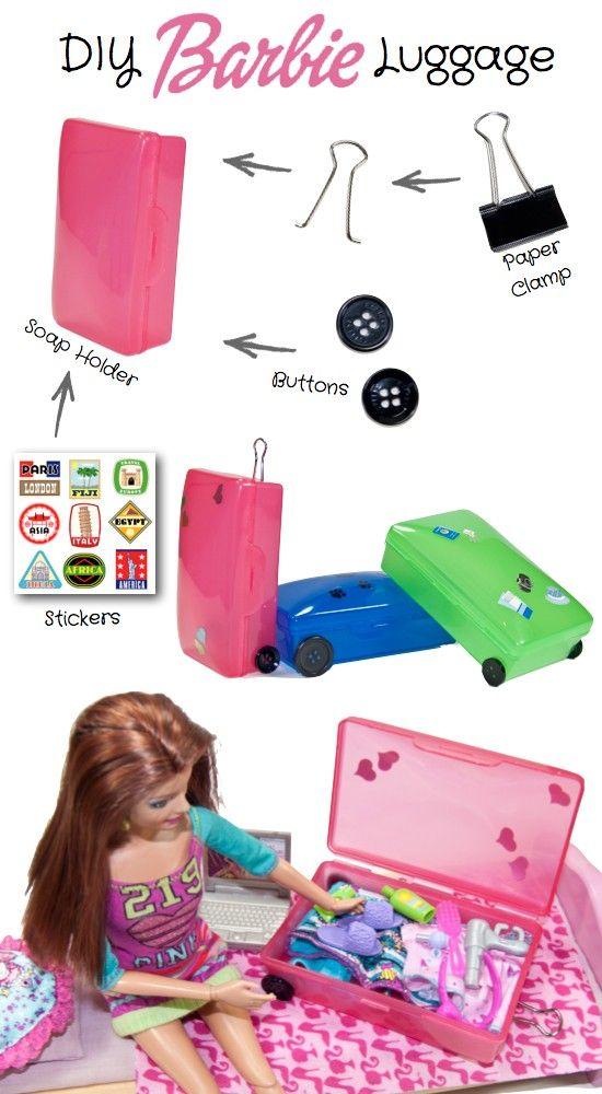 DIY Barbie Suitcase - genius!     Wish I knew this one years ago