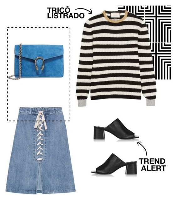 """""""LISTRAS"""" by byviniciusmarca ❤ liked on Polyvore featuring Sea, New York, Topshop and Gucci"""