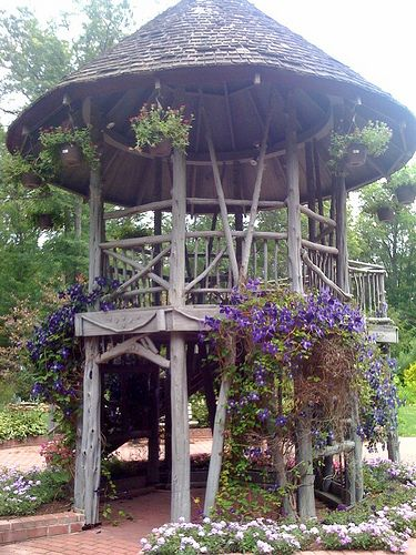Gazebo built ins and farms on pinterest for Built in gazebo