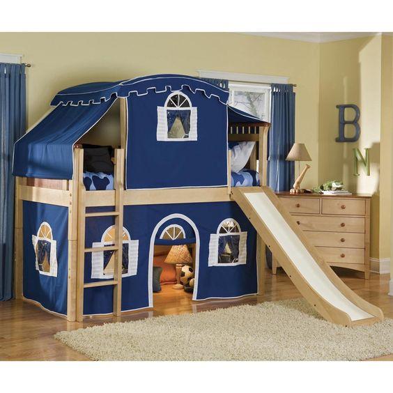 bennington premier low loft tent bed loft beds at simply. Black Bedroom Furniture Sets. Home Design Ideas