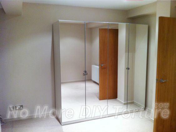 Ikea pax vikedal doors this is exactly what she wants mirrors with no breaks in it home - Ikea armoire with mirror ...