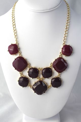 Ombre,Squared,Necklace