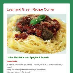 Lean and Green Recipe