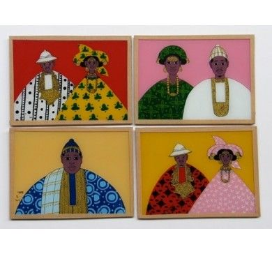 Couple Babacar Ngom 2013 Peinture sous verre Pinterest