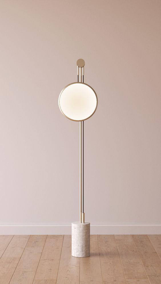 Indirect light metal floor lamp SOLEDAD by ROCHE BOBOIS   design Elsa Pochat, Elí Séval-Hernàandez