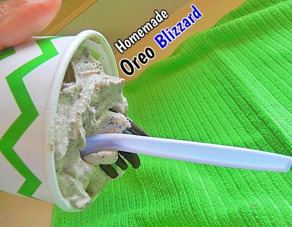 Homemade Oreo Blizzard - Just like the ones we used to get at Dairy Queen