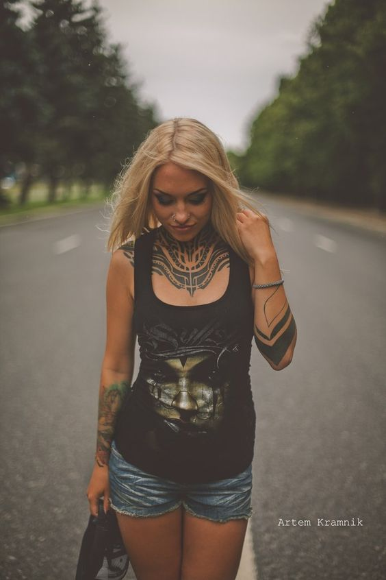 Teya Salat - Tattoo Model - Official Site