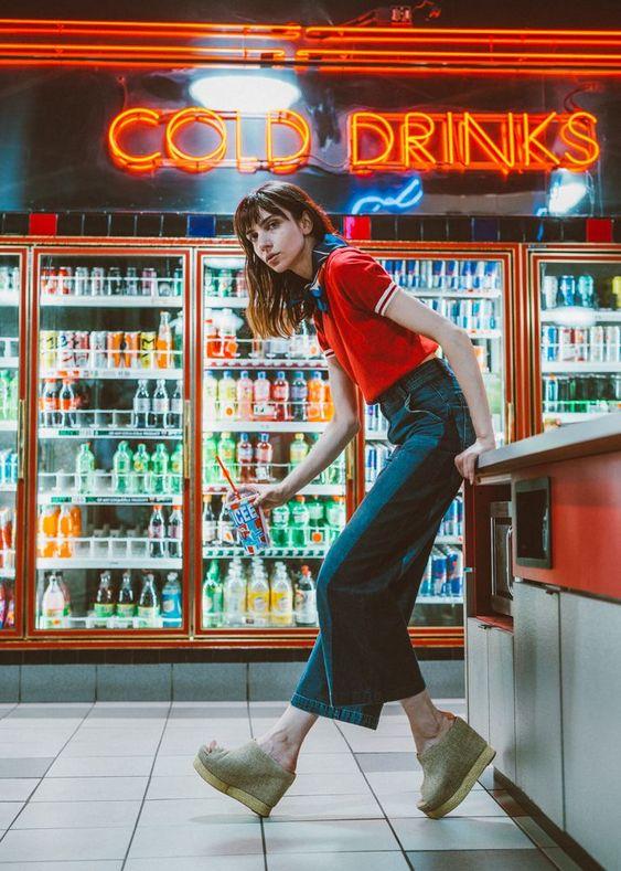 retro model fashion style photography