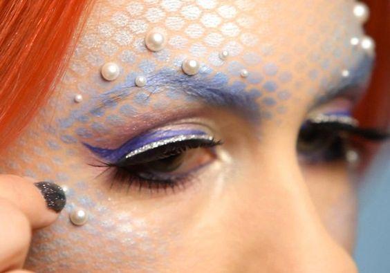 Maquiagem de sereia: só vai dar você no Carnaval (Foto: Divulgação):