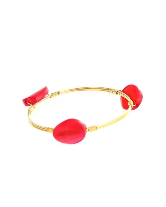 Kimberly Three Stone Bangle