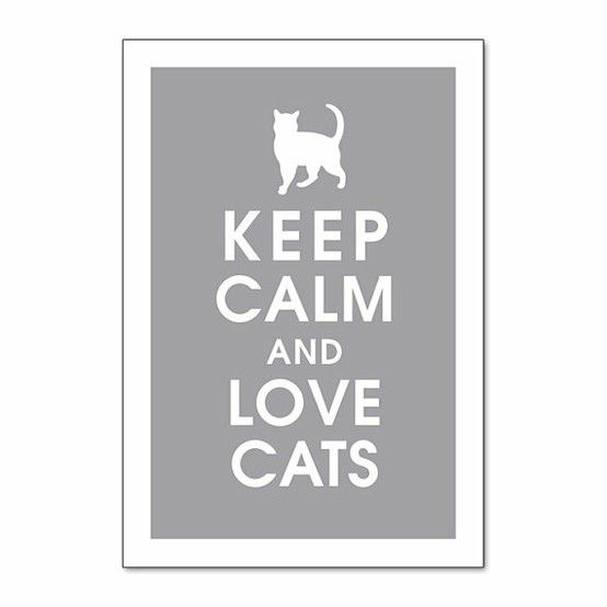 I love my cats. And sometimes I need a reminder to calm down. Maybe something for the guest room?