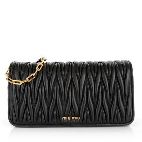 Miu Miu Tasche – Pochette Matelassé Nero – in schwarz – Abendtasche für Damen