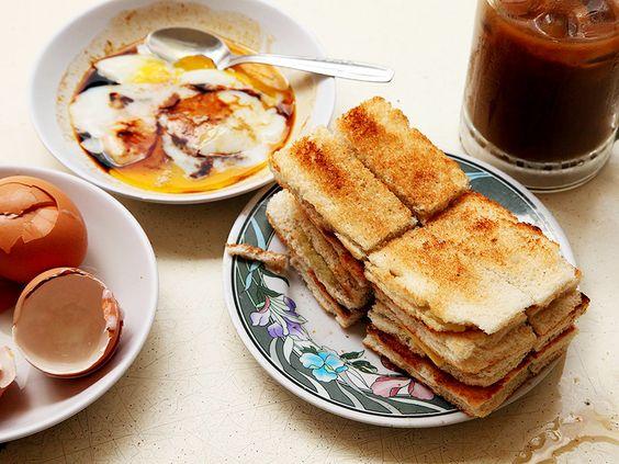 Món bánh mì nướng Kaya