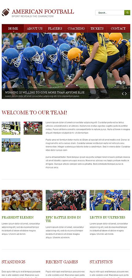 Sports team contact information form templates