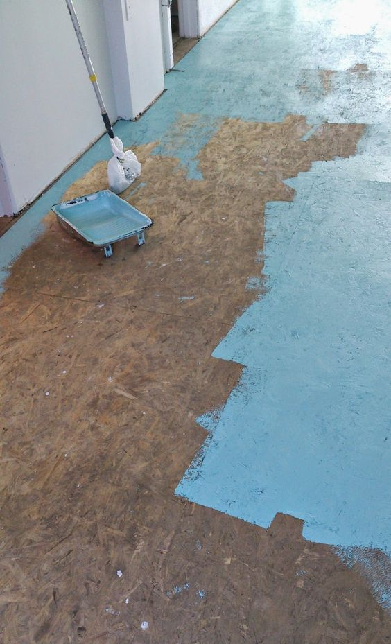 Dans le lakehouse diy painted particle board floor mmmm for Bare floor meaning