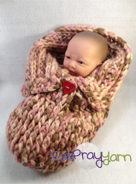 Baby Cocoon Made On Large Yellow Loom I Will Add A Large Button So