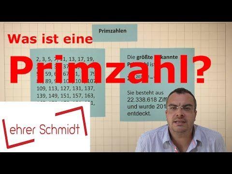Primzahl Was Ist Eine Primzahl Mathematik Lehrerschmidt Youtube Lernen Tipps Schule Mathematik Lernen Mathematik