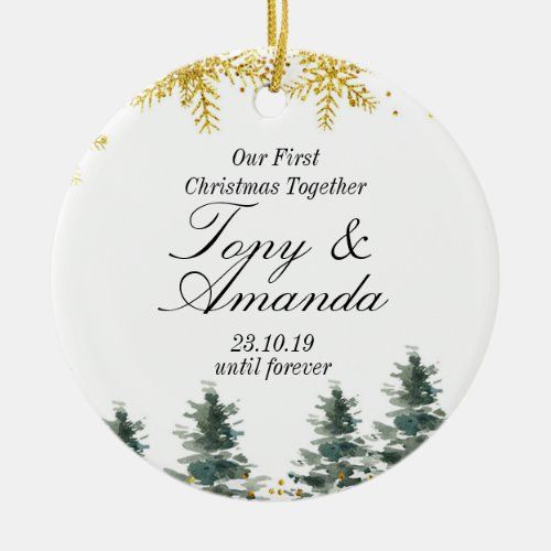 Rustic Our First Christmas Together Ornament Zazzle Com First Christmas Together Ornament Photo Christmas Ornaments Engagement Christmas Ornament