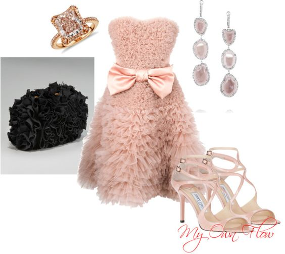 """""""PINK RUFFLES"""" by myownflow on Polyvore"""