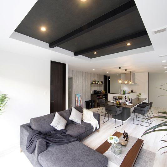 折り上げ天井 おしゃれまとめの人気アイデア Pinterest Kaju 2020 折り上げ天井 部屋 リビング インテリア テレビ