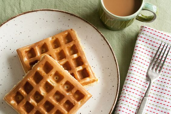 Gojee - Egg Nog Waffles by Crumb