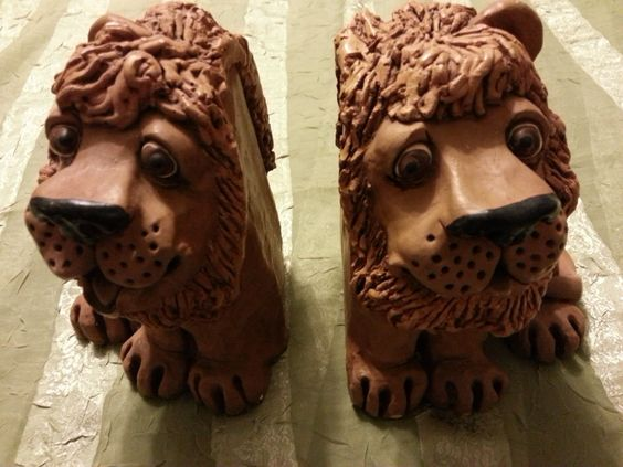 1978 Dave Grossman Lion Bookends by ATXResale on Etsy