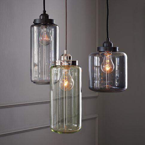 Antique Glass Jar Pendants
