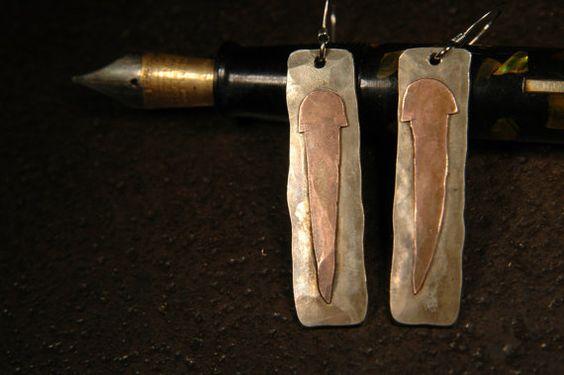 Rhodesian Ridgeback Mixed Metal Earrings  012 by JimRocksGA, $59.00