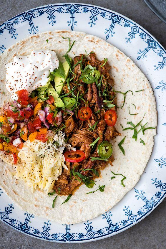 ... avocado meals pico de gallo pulled pork mexicans parties families