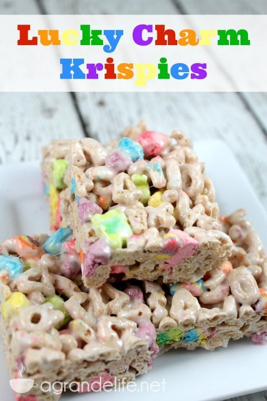 Luck Charm Krispies! Making this for our girls this weekend