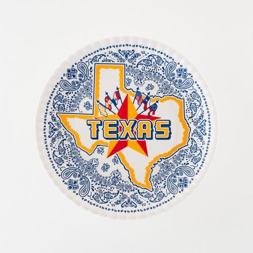 Texas  Paper  Plate St/4 Melamine ...  sc 1 st  Pinterest & Texas