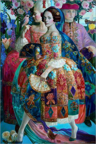 Olga Suvorova Promenade 1 | Abstract art, Painting