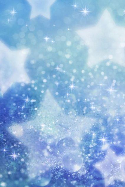 女子向け壁紙きらきらブルー星