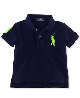 Ralph Lauren Baby Shirt, Baby Boys Short-Sleeved Big Pony Polo - Kids -
