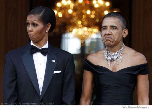 Image result for obama and michelle smug face