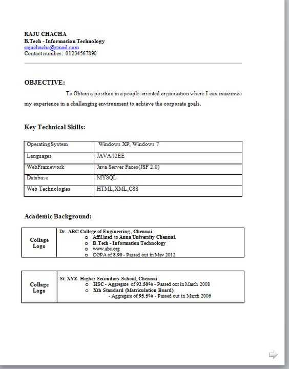Basic Resume Format Pdf - http\/\/wwwresumecareerinfo\/basic - informatica resume sample
