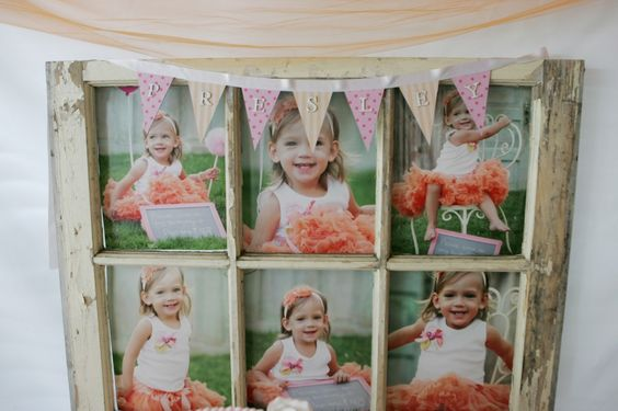 Vintage frame used for sweets table - what a great accent! #partydecor #kidsparty