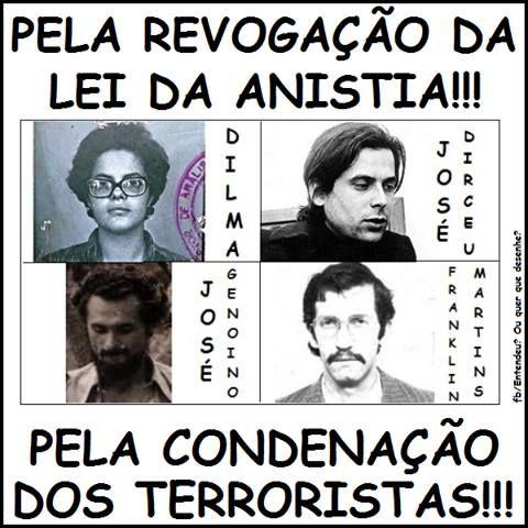 Post  #FALASÉRIO!  : TERRORISMO NUNCA MAIS... COMUNISTAS ASSASSINOS !