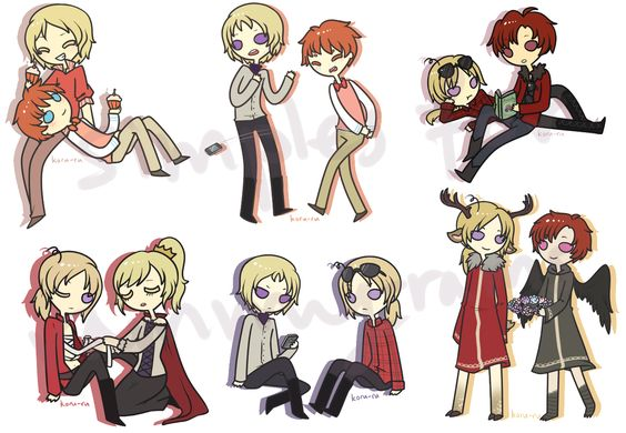 1p 2p commission batch by Koru-ru.deviantart.com on @DeviantArt| Good God I love the art style