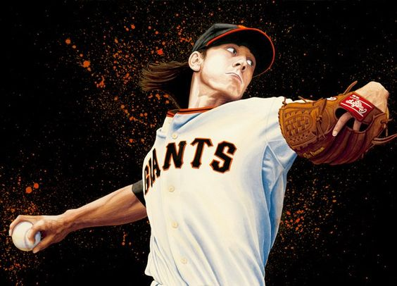 SF Giants Tim Lincecum by Moises Biton (watercolor)
