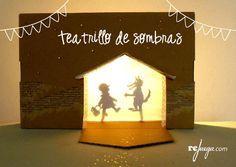 10 pasos para hacer un portal de Belén & Teatrillo de sombras con una caja de cartón | Rejuega - y disfruta jugando!
