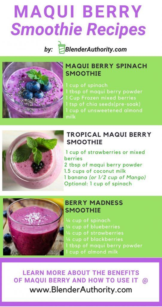 5 Amazing Maqui Smoothies And Maqui Berry Benefits Smoothie