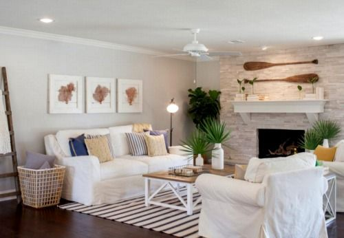 Coastal Home Makeover for a Ranch House by Chip and Joanna Gaines: http://www.completely-coastal.com/2016/05/coastal-home-makeover-Chip-Joanna-Gaines.html