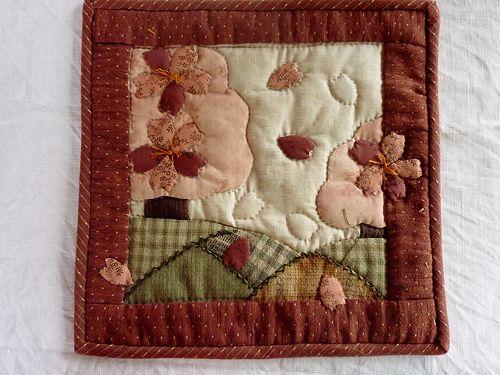mini quilt sakura