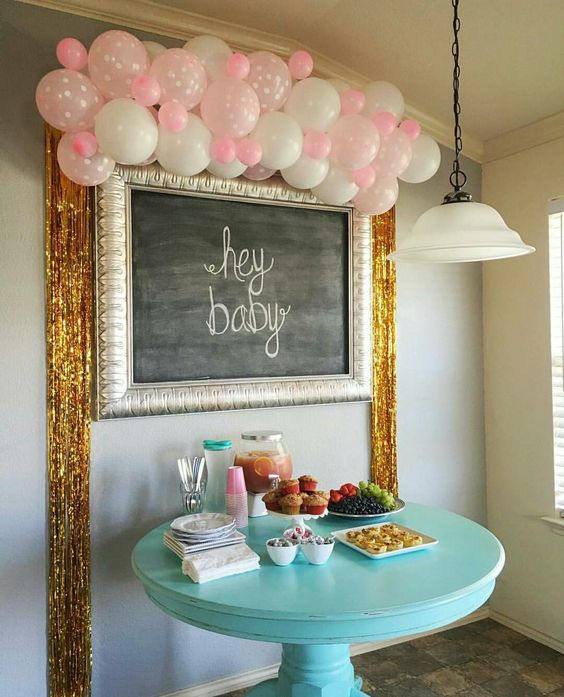 Baby shower in the air