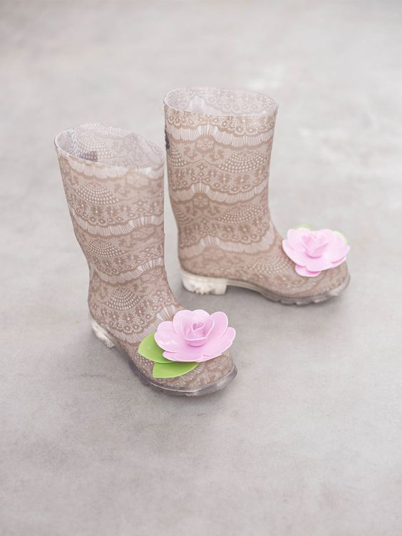 Felicity Lace Rain Boots by Joyfolie at Gilt