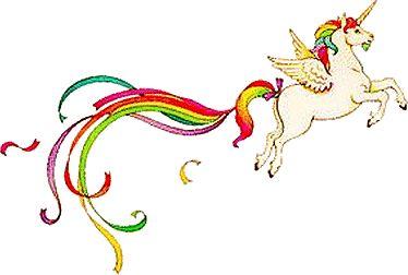 Alfabeto de unicornio con cola arco iris.   Oh my Alfabetos!