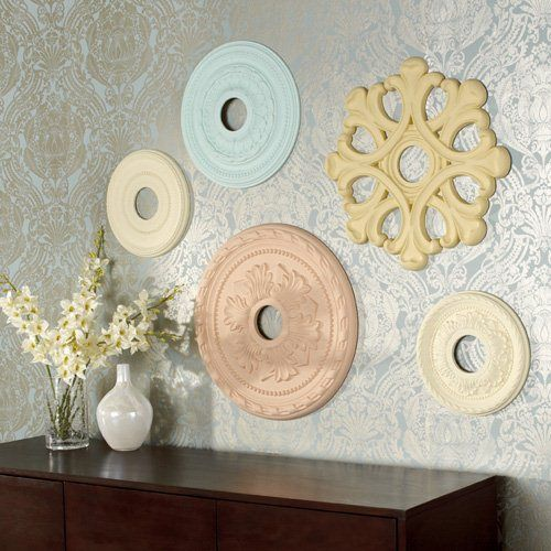 ceiling medallions as wall decor