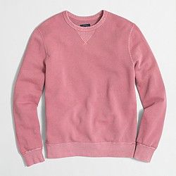 Factory sunwashed garment-dyed crewneck sweatshirt