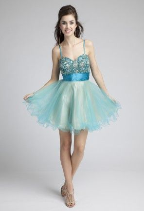 Prom Dresses 2013 - Short Beaded Tulle Prom Dress from Camille La Vie and Group USA: